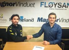 Christoffer Hafsås re-signerer for Os Fotball. FOTO: Os Fotball